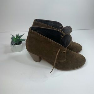 Suede Brown Leather Madewell 1937 Ankle Booties